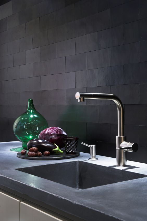 Những ý tưởng trang trí nhà bếp màu đen siêu ấn tượng - Ảnh 12.
