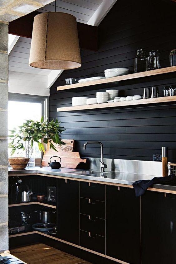 Những ý tưởng trang trí nhà bếp màu đen siêu ấn tượng - Ảnh 19.