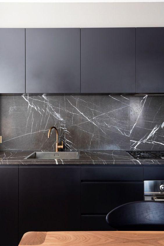 Những ý tưởng trang trí nhà bếp màu đen siêu ấn tượng - Ảnh 21.