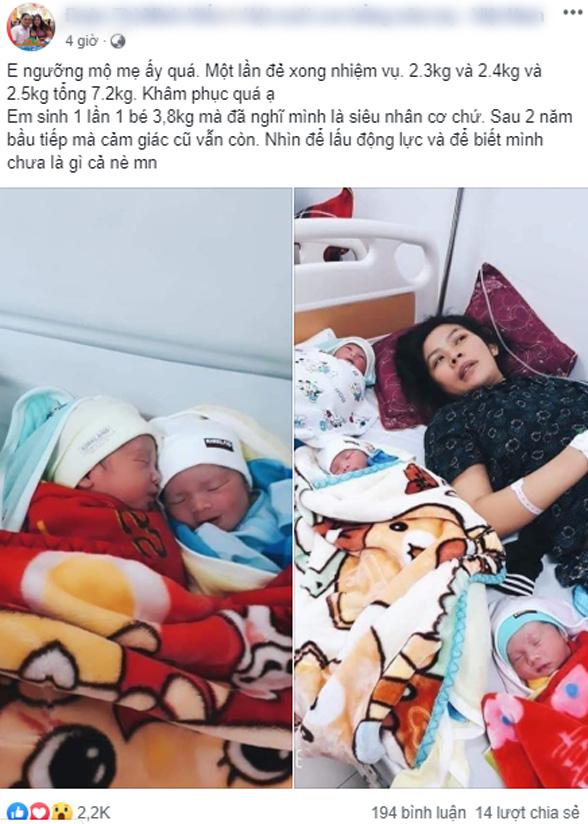 Mẹ Nghệ An sinh 1 lần được 2 trai, 1 gái nhưng biết được câu chuyện phía sau, mọi người càng ngỡ ngàng hơn - Ảnh 6.