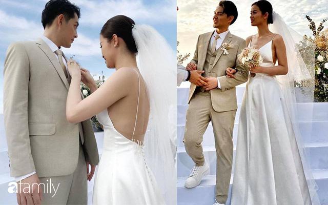 Cứ mải chú ý đến cô dâu, chú rể Ông Cao Thắng cũng không kém cạnh thay tới 3 bộ lễ phục  - Ảnh 1.