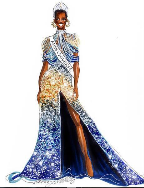 Bí ẩn đằng sau bộ đầm dạ hội ảo diệu giúp Zozibini Tunzi đăng quang ngôi vị cao nhất của Miss Universe 2019 - Ảnh 7.