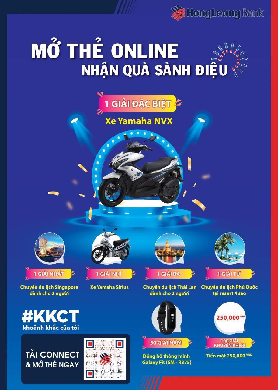 Cơ hội trúng xe máy Yamaha khi mở thẻ visa ghi nợ Hong Leong - Ảnh 1.