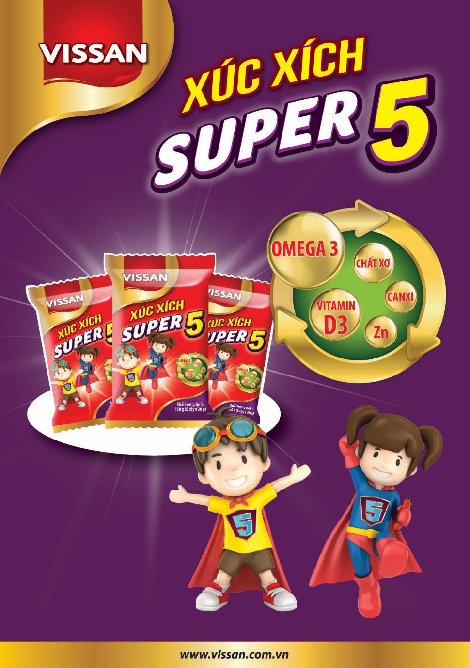 Bổ sung 5 dưỡng chất quan trọng với xúc xích Super 5 - Ảnh 2.