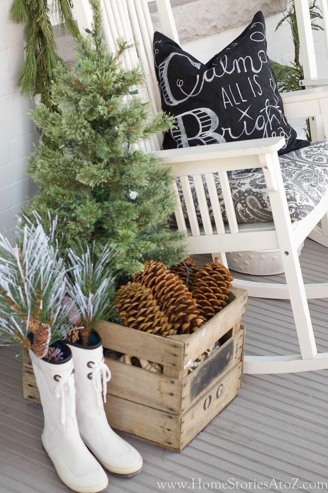 Hiên nhà xinh đẹp đón khách nhờ những ý tưởng decor độc đáo mùa Giáng sinh - Ảnh 11.