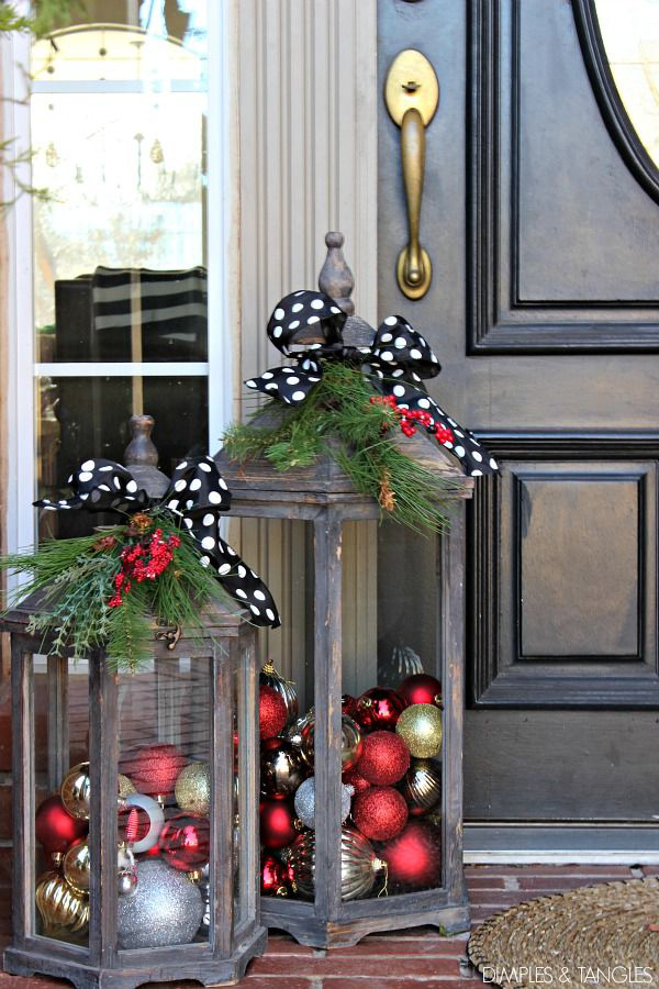 Hiên nhà xinh đẹp đón khách nhờ những ý tưởng decor độc đáo mùa Giáng sinh - Ảnh 12.
