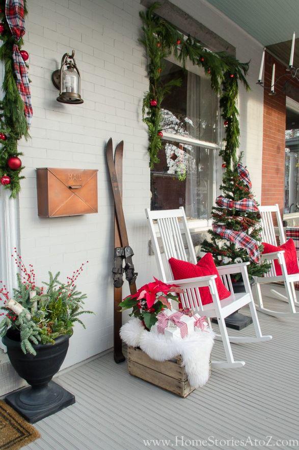 Hiên nhà xinh đẹp đón khách nhờ những ý tưởng decor độc đáo mùa Giáng sinh - Ảnh 13.