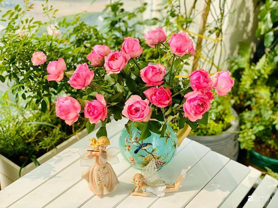 Ngày đầu năm ghé thăm những góc nhỏ dịu dàng sắc hoa trong căn nhà ấm cúng của bà mẹ trẻ Hà Nội - Ảnh 18.