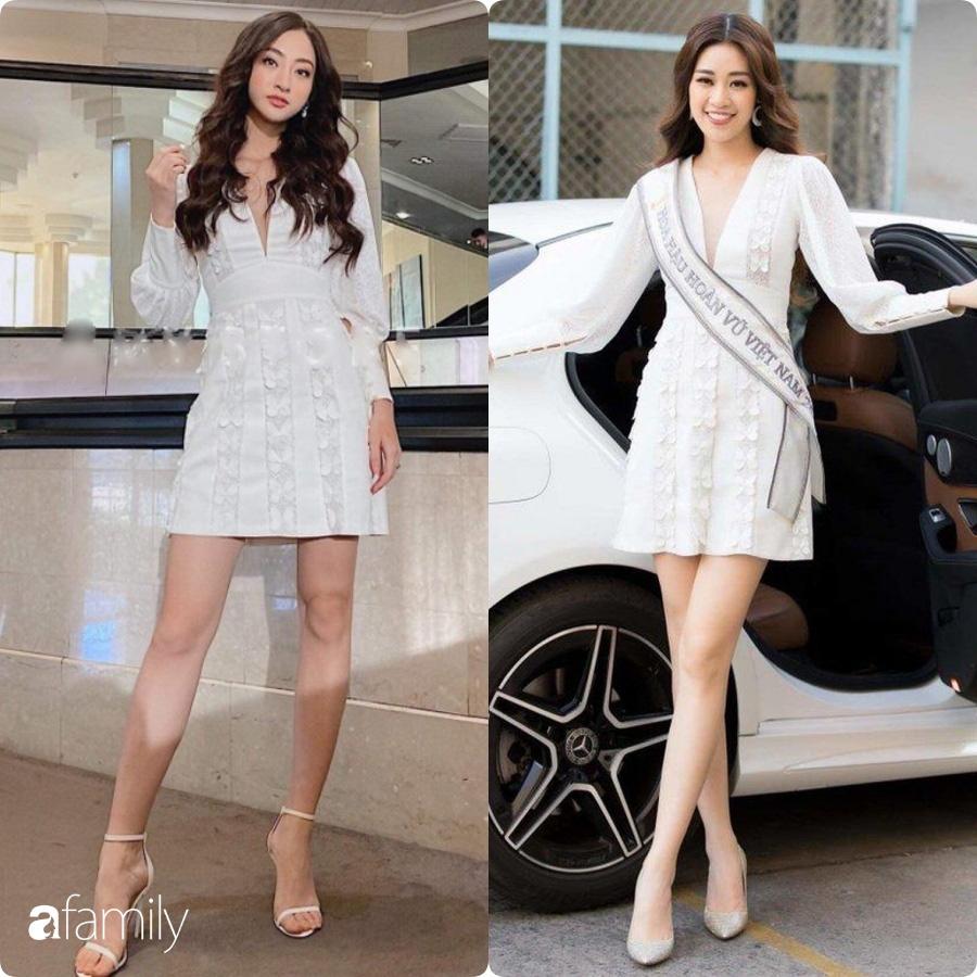 Hoa hậu Khánh Vân - Lương Thùy Linh đụng hàng một thiết kế váy: Chỉ một chi tiết rất nhỏ vẫn thể hiện sự cao tay của hai nàng tân Hậu - Ảnh 4.