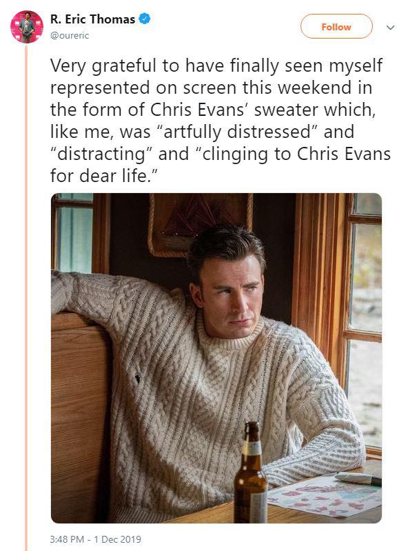 Không chỉ phát điên vì Chris Evan, dân tình còn nháo nhác vì chiếc áo len hoàn hảo anh diện trong Knives Out - Ảnh 3.