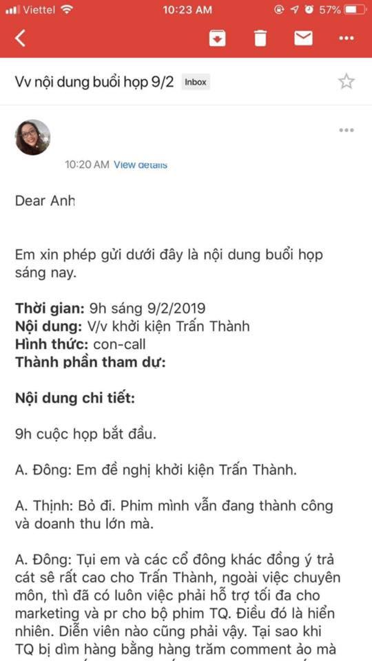 Rộ tin cổ đông phim Trạng Quỳnh đòi khởi kiện Trấn Thành trong ngày đầu năm mới  - Ảnh 2.