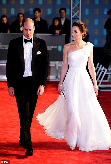 Đây là lần thứ 3, Công nương Kate tham dự lễ trao giải điện ảnh danh giá của nước Anh.