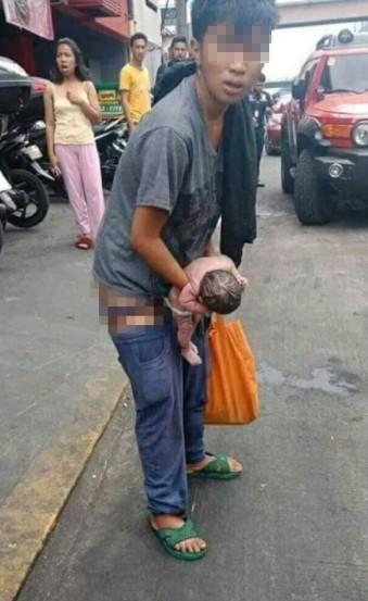 người đàn ông sinh con giữa đường, Thai phụ vỡ ối sinh con giữa đường