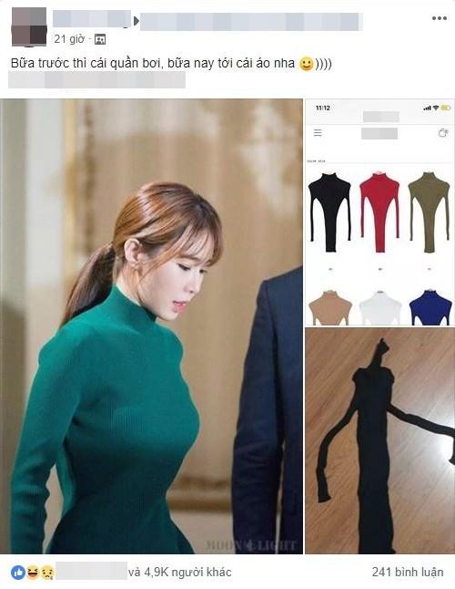 Mua chiếc váy body sang chảnh như sao Hàn, cô nàng nhận về kết quả khiến dân mạng cười té ghế - Ảnh 1.