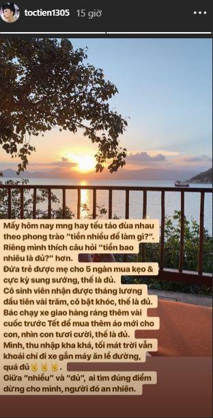 Tóc Tiên trả lời câu hỏi hot trend Tiền nhiều để làm gì?, netizen thi nhau tán thưởng vì quá tâm phục khẩu phục  - Ảnh 1.