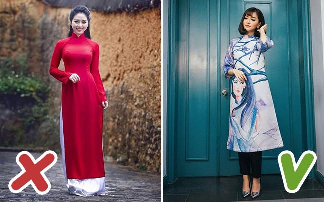 5 lỗi mặc áo dài mà chị em cần tránh để không bị mất điểm thanh lịch trong ngày Tết - Ảnh 2.