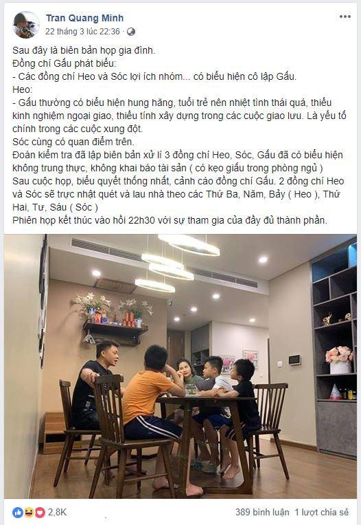 Nhà có 3 cậu con trai, đây là cách xử lý xung đột công bằng nhưng không kém phần hài hước của BTV Quang Minh - Ảnh 1.