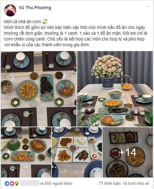 Nấu mâm cơm đơn giản, vợ đảm vẫn khiến chị em trầm trồ vì loạt bát đĩa gốm sứ xinh như đi ăn nhà hàng - Ảnh 1.