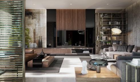 Những phòng khách độc đáo, hấp dẫn trong nhiều không gian khác nhau - Ảnh 8.