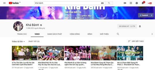 Sau khi bị công an bắt, kênh Youtube kiếm hàng trăm triệu/tháng của Khá Bảnh đã bị xóa - Ảnh 3.