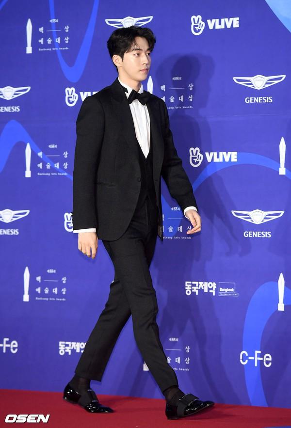 Thảm đỏ Baeksang 2019: Han Ji Min tái hợp bạn trai màn ảnh Hyun Bin, Nam Joo Hyuk - Jung Woo Sung - Ảnh 15.