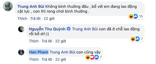 Phì cười với màn hội thoại ngoài đời thật của ông bố Trung Anh Về nhà đi con với 3 cô con gái Thu Quỳnh - Bảo Thanh - Bảo Hân  - Ảnh 2.