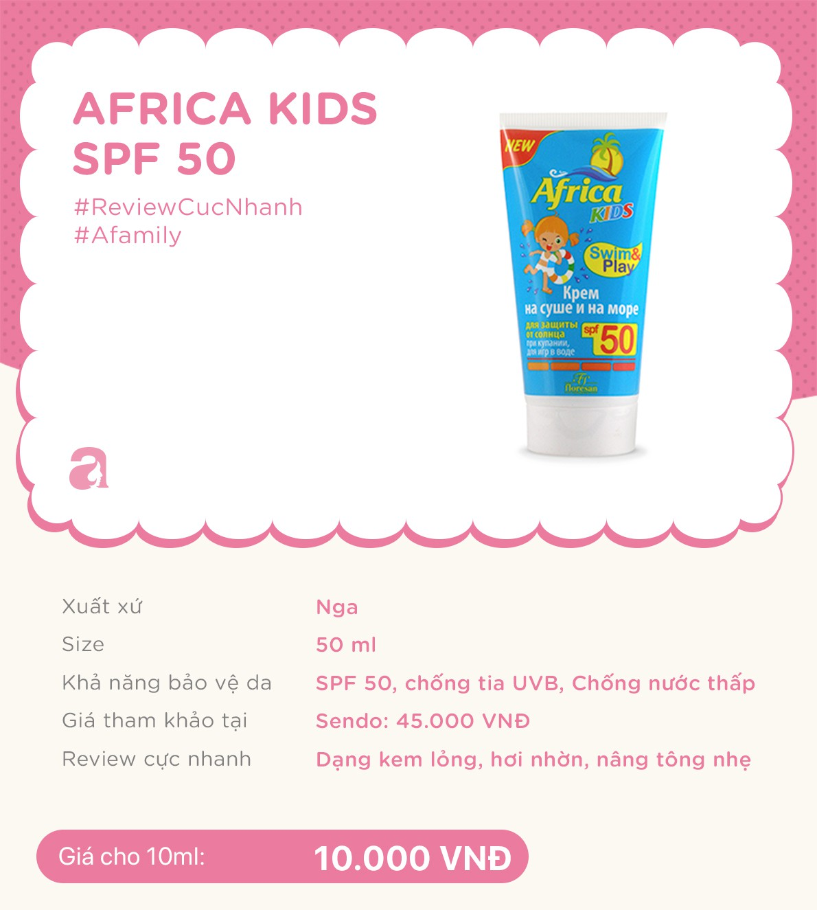 Review nhanh 10 lọ kem chống nắng dành cho trẻ em giá từ 70k đến 700k  - Ảnh 3.