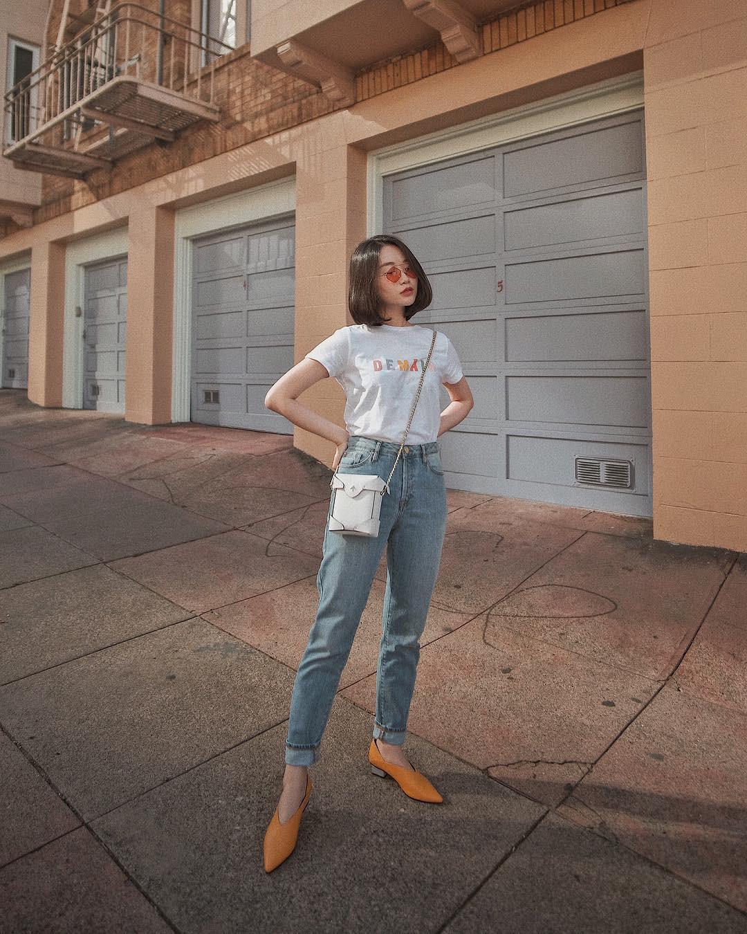 Bảo chứng cho vẻ sành điệu là combo áo phông – quần jeans với 15 ý tưởng diện mãi không biết chán này  - Ảnh 1.