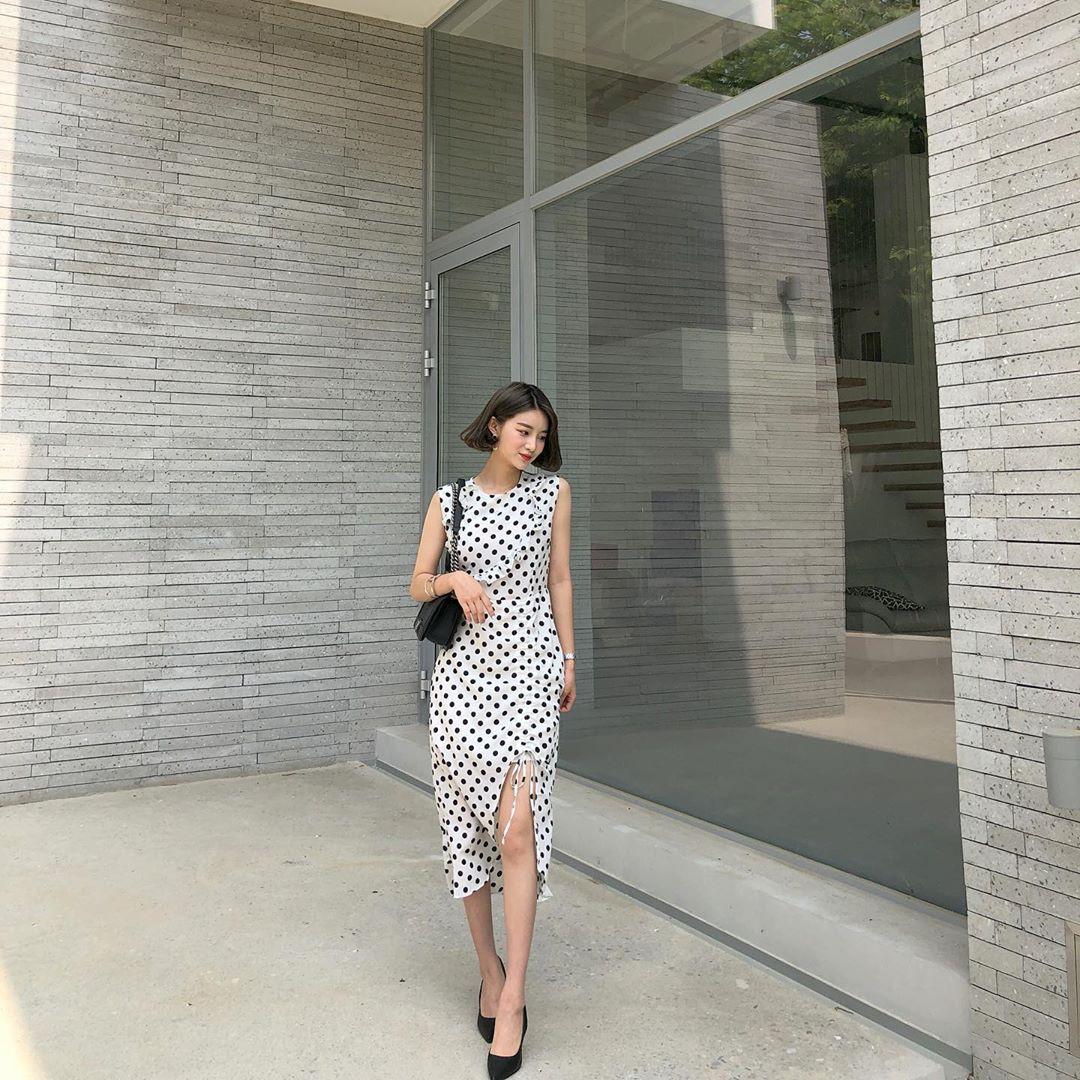 Nô nức diện váy thô mùa hè cho mát, muốn mặc đẹp hãy tham khảo 15 bộ đồ từ street style Châu Á này - Ảnh 4.