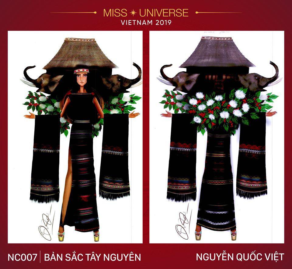 Hoàng Thùy không chỉ có trang phục Bàn Thờ, còn cả thiết kế chuồn chuồn, trâu hay cà phê phin để cân nhắc - Ảnh 11.