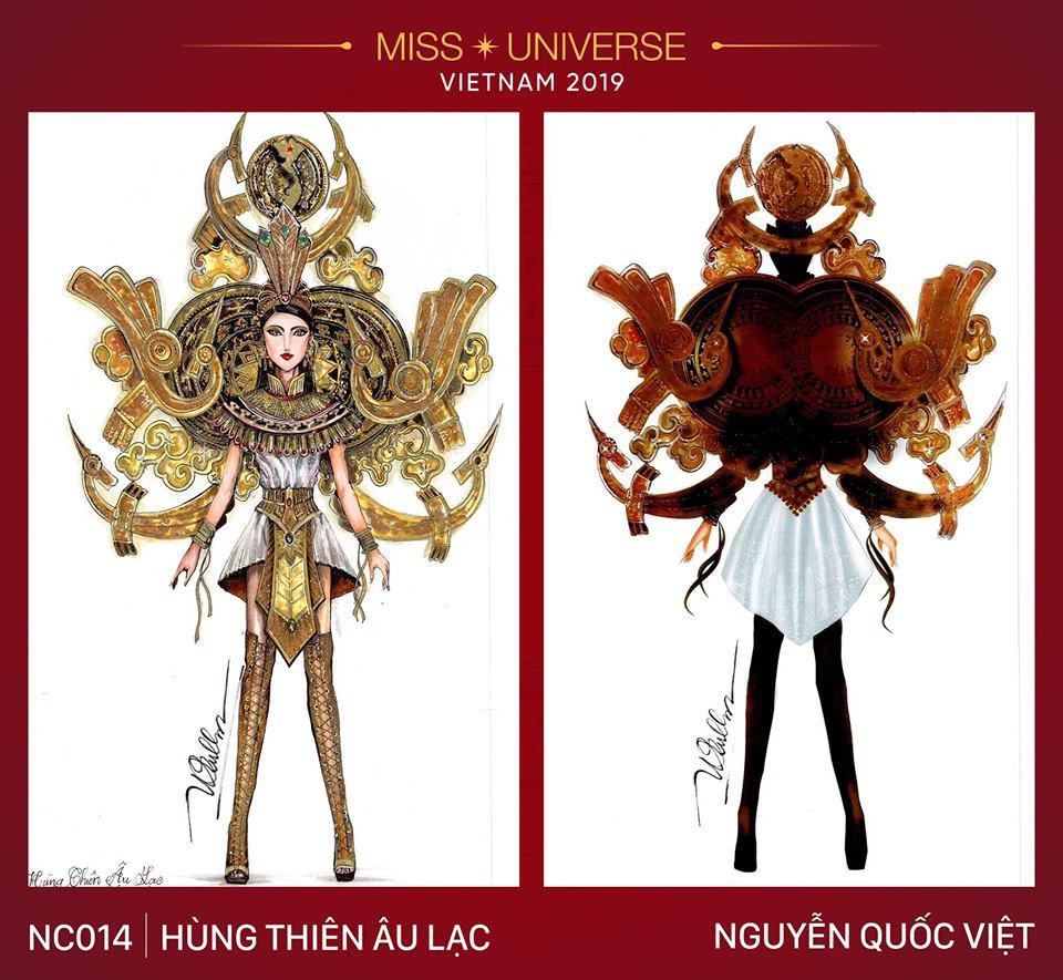 Hoàng Thùy không chỉ có trang phục Bàn Thờ, còn cả thiết kế chuồn chuồn, trâu hay cà phê phin để cân nhắc - Ảnh 13.