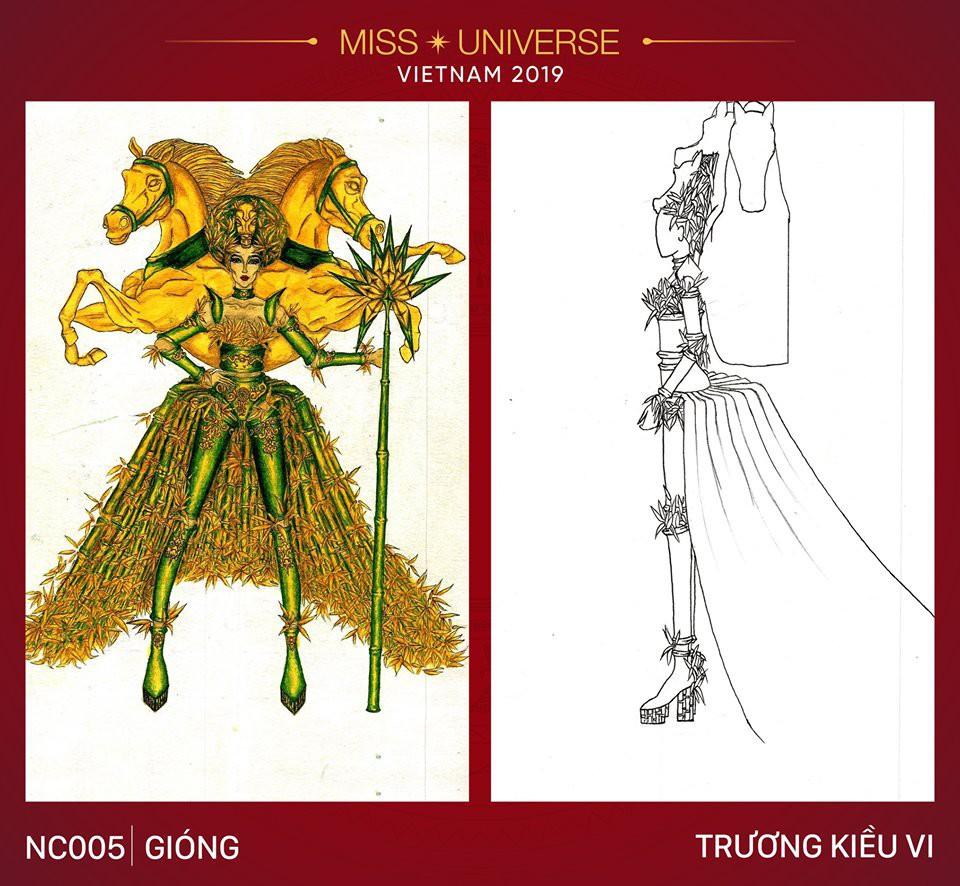 Hoàng Thùy không chỉ có trang phục Bàn Thờ, còn cả thiết kế chuồn chuồn, trâu hay cà phê phin để cân nhắc - Ảnh 14.