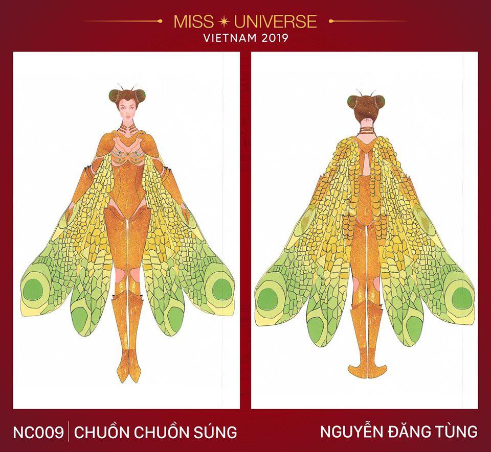 Hoàng Thùy không chỉ có trang phục Bàn Thờ, còn cả thiết kế chuồn chuồn, trâu hay cà phê phin để cân nhắc - Ảnh 18.