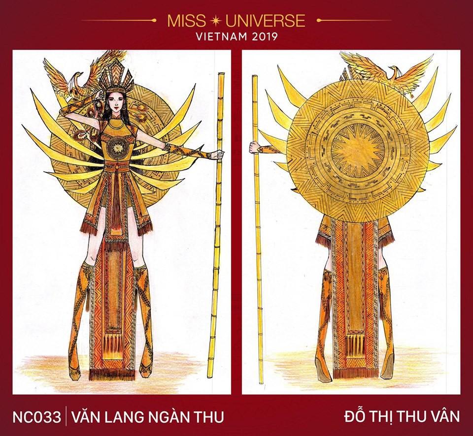Hoàng Thùy không chỉ có trang phục Bàn Thờ, còn cả thiết kế chuồn chuồn, trâu hay cà phê phin để cân nhắc - Ảnh 22.