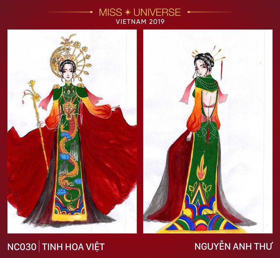 Hoàng Thùy không chỉ có trang phục Bàn Thờ, còn cả thiết kế chuồn chuồn, trâu hay cà phê phin để cân nhắc - Ảnh 5.