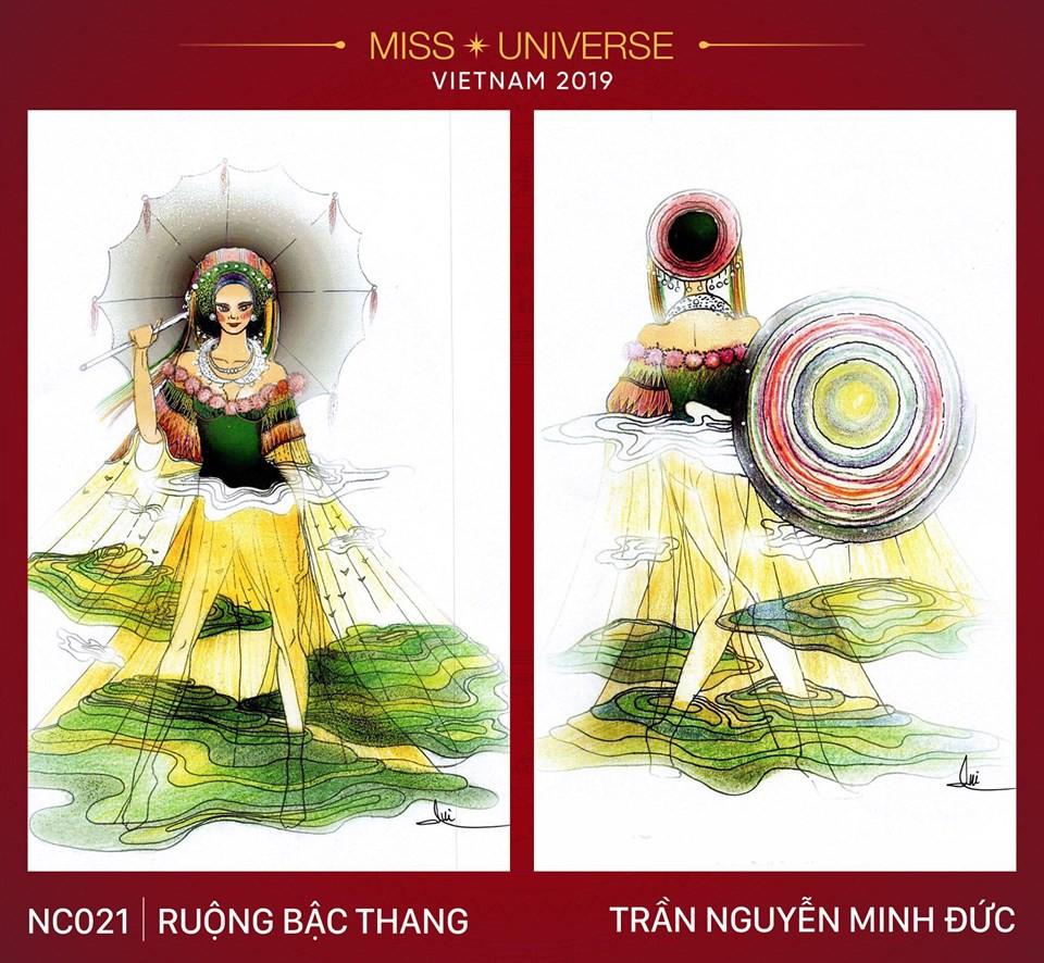 Hoàng Thùy không chỉ có trang phục Bàn Thờ, còn cả thiết kế chuồn chuồn, trâu hay cà phê phin để cân nhắc - Ảnh 9.