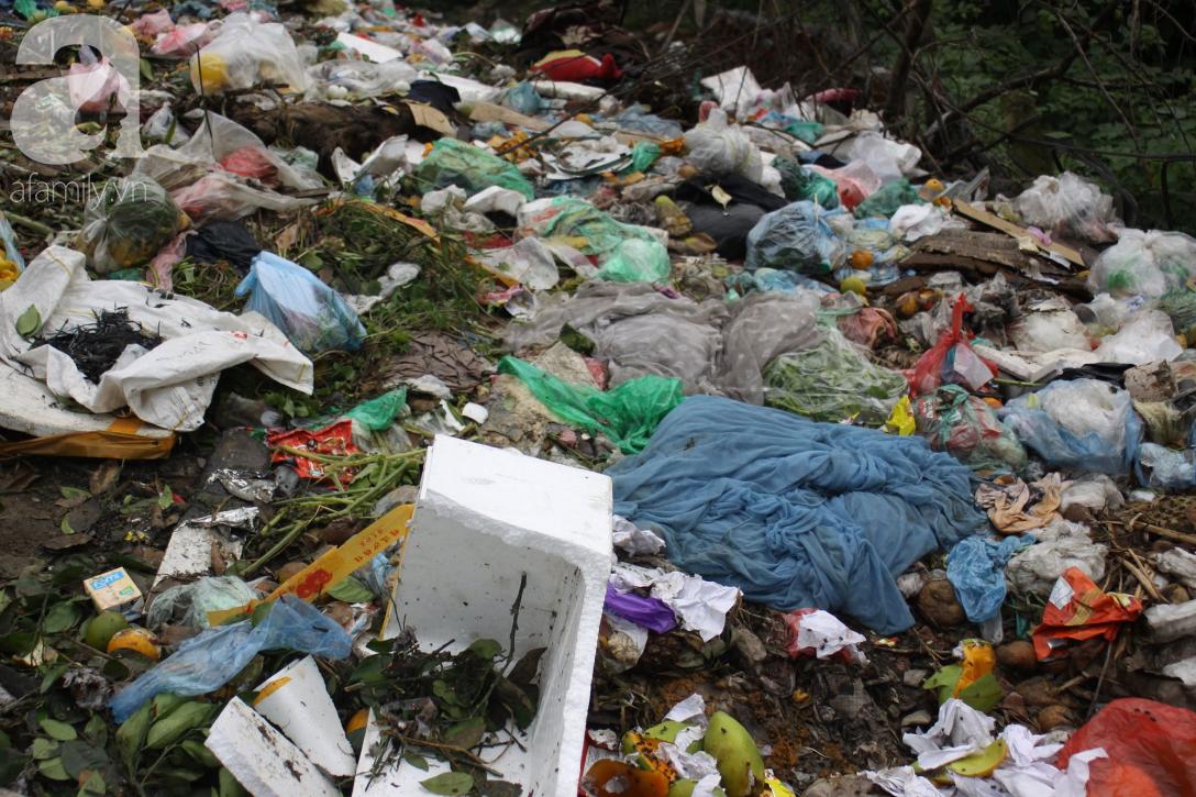 Hà Nội: Cận cảnh núi rác khổng lồ bốc mùi hôi thối nồng nặc dưới chân cầu Long Biên - Ảnh 3.