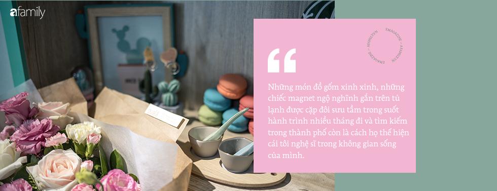 Căn hộ xanh bạc hà đẹp như mơ và chuyện cặp vợ chồng vũ công đi khắp Sài Gòn tự tay sắm sửa cho ngôi nhà hạnh phúc - Ảnh 9.