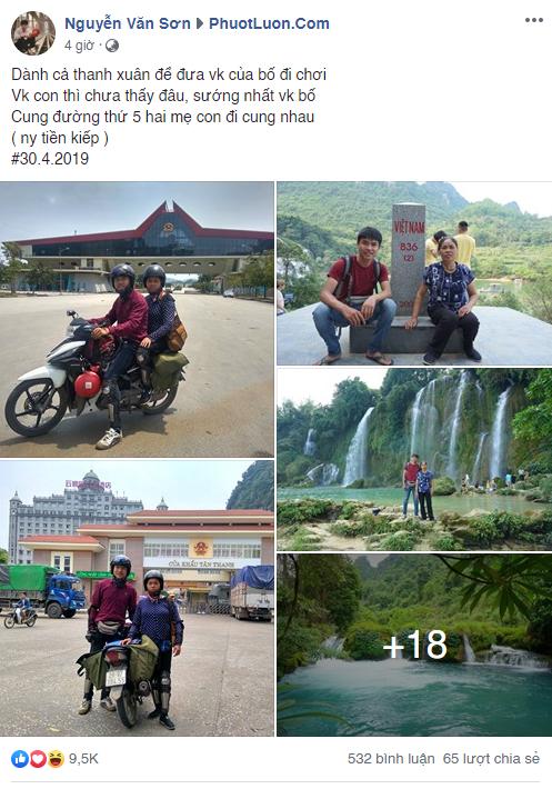 """Chang trai danh ca thanh xuan dua me di phuot khap the gian va nhung """"lan dau tien"""" day xuc dong cua me"""
