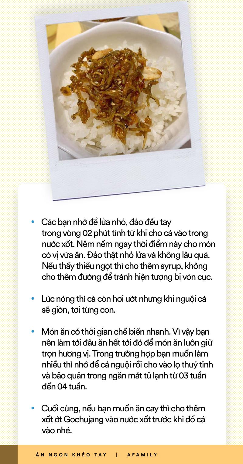 Xem ngay món cá Anchovy Hàn Quốc rang vừa đậm vị lại giòn ngọt thơm ngon cho thực đơn cơm tối ngày mưa - Ảnh 7.