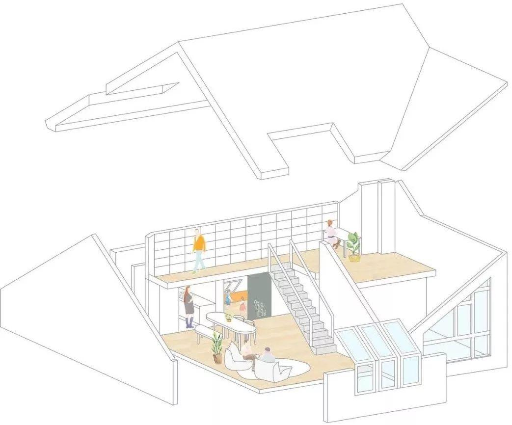 Cặp vợ chồng trẻ nới rộng căn hộ áp mái 85m2 thành không gian 115m2 sau cải tạo ai nhìn cũng mê - Ảnh 2.