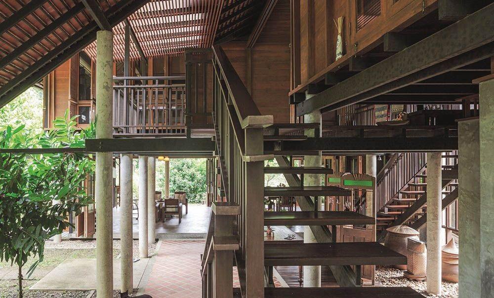 Ngôi nhà gỗ bất chấp nắng nóng, chỉ có gió mát và ánh sáng ngập tràn giữa rừng cây xanh - Ảnh 6.