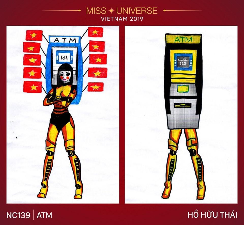Choáng với nhiều ý tưởng dành cho Hoàng Thùy đi thi Hoa hậu Hoàn vũ: Từ heo quay cho đến cây ATM và thật khó mà cảm nổi! - Ảnh 3.
