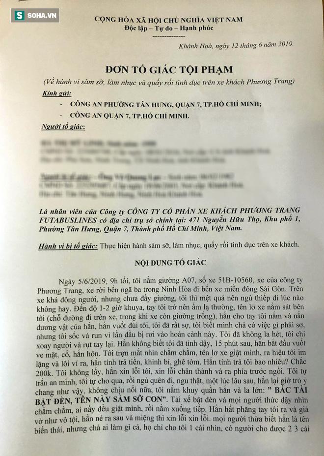 """Nữ sinh bị sàm sỡ trên xe Phương Trang: Người xưng là vợ phụ xe nhắn """"tôi không phải nạn nhân duy nhất"""" - Ảnh 2."""