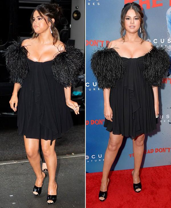Selena Gomez gây chú ý khi diện váy bó sát, o ép ngực đầy sau tin đồn vẫn liên lạc với Justin Bieber  - Ảnh 3.