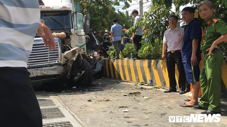 Tài xế container gây tai nạn khiến 5 người thiệt mạng ở Tây Ninh khai do ngủ gật - Ảnh 1.