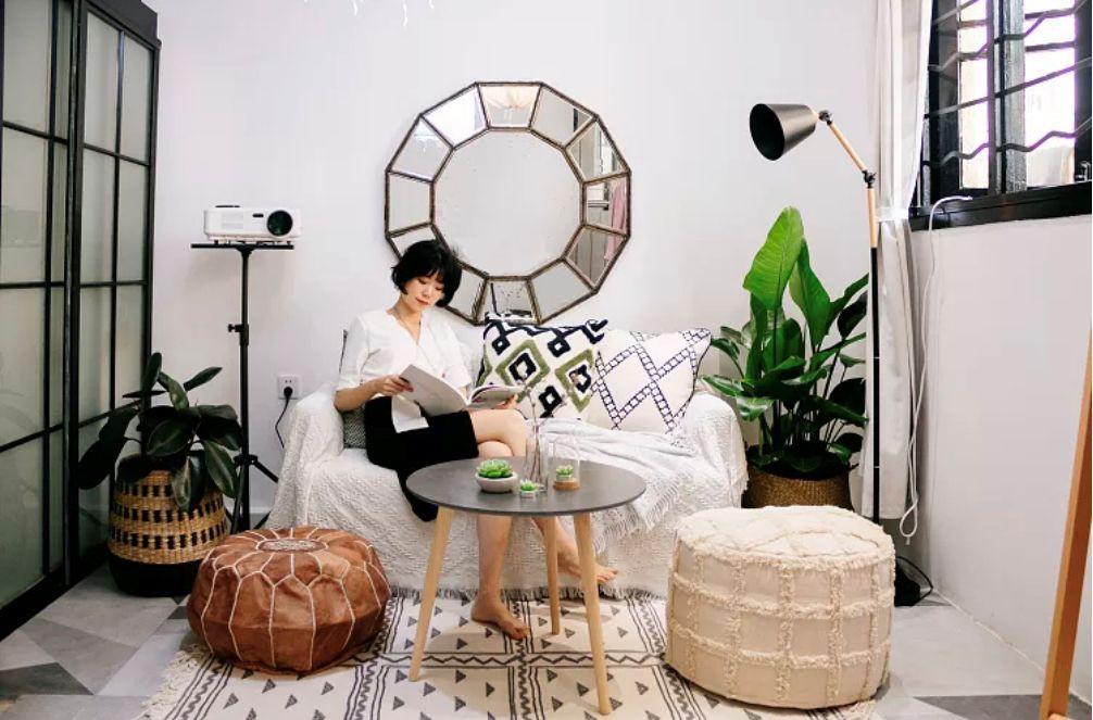 Phòng ngủ 26m2 cũ kỹ, tẻ nhạt biến thành không gian sống đáng yêu theo phong cách Maroc của cô gái trẻ - Ảnh 5.