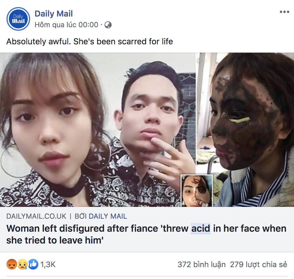 Dân mạng nước ngoài bày tỏ sự thương cảm với cô gái Việt Nam bị chồng sắp cưới tạt axit đến biến dạng khuôn mặt - Ảnh 3.