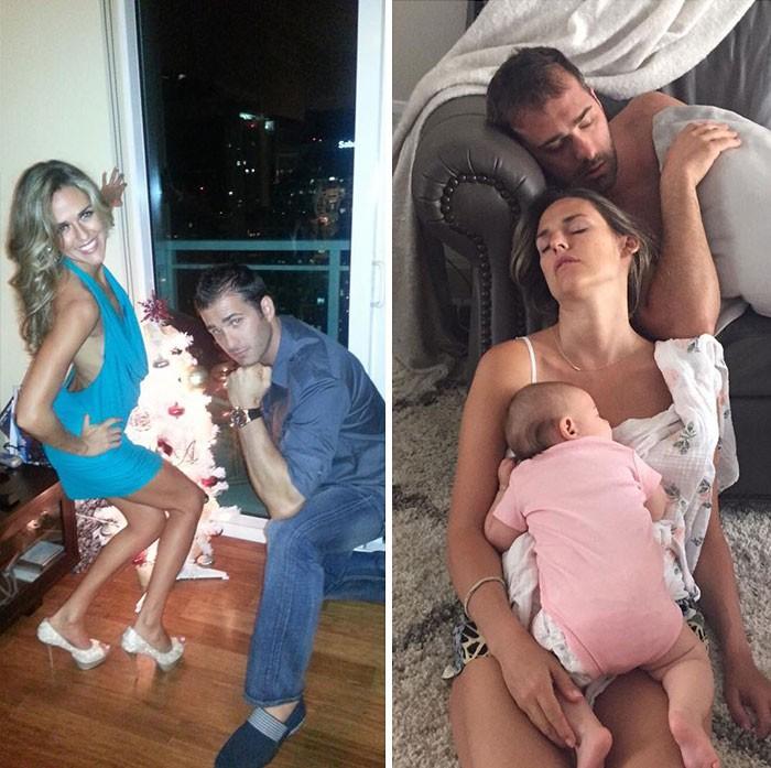 """Hình ảnh trước và sau khi làm cha mẹ của các """"dân chơi"""" sẽ cho bạn thấy việc nuôi con khắc nghiệt đến mức nào - Ảnh 1."""