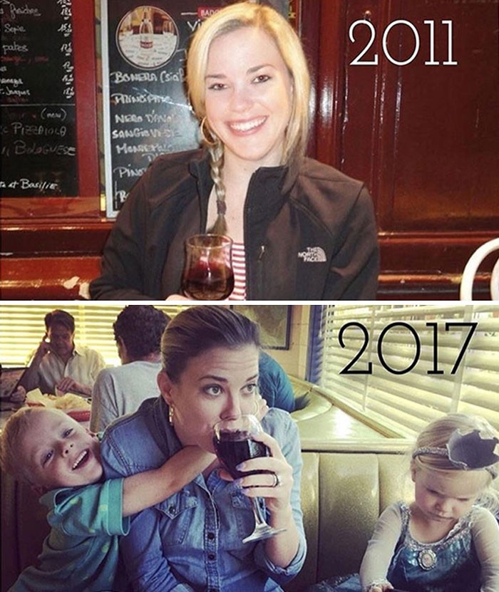 """Hình ảnh trước và sau khi làm cha mẹ của các """"dân chơi"""" sẽ cho bạn thấy việc nuôi con khắc nghiệt đến mức nào - Ảnh 11."""